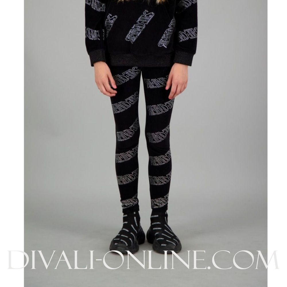Pants Velvet Diamond Black